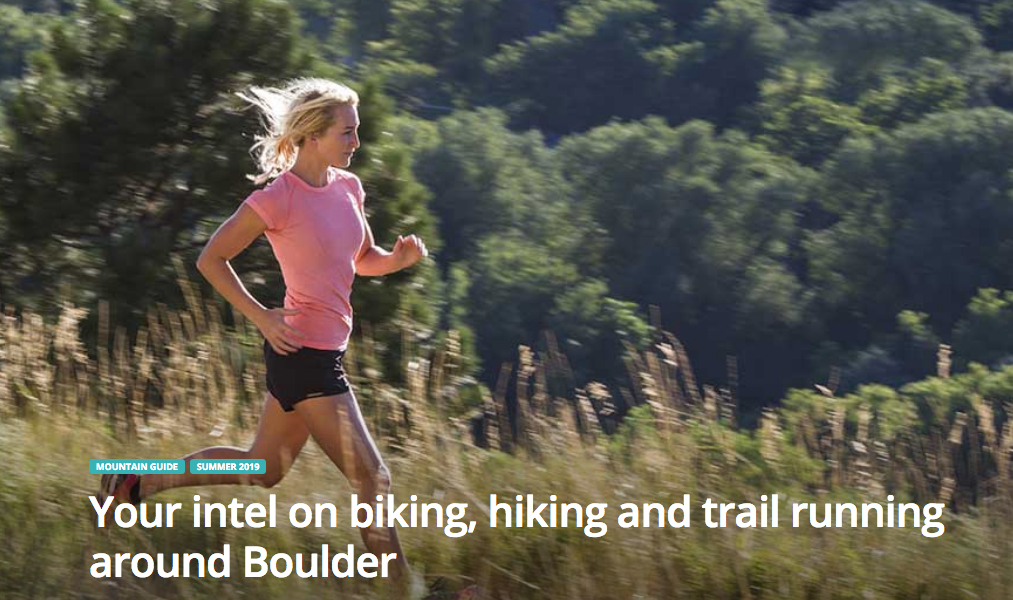 Trail running in Boulder, Colorado